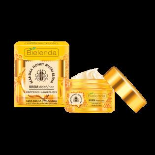 BIELENDA Cremă de față hrănitoare și hidratantă cu miere de manuka pentru ten uscat și sensibil zi/noapte 50ml