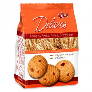 VIVA DELICIOS - Biscuiți cu stafide, măr și scorțișoară 150g