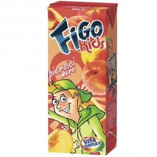 FIGO Băutura răcoritoare pentru copii piersici și mere 0.2L