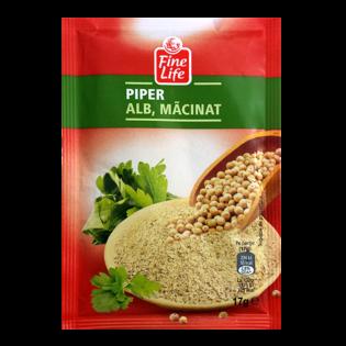 FINE LIFE Condiment piper alb macinat 17g
