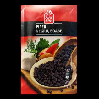 FINE LIFE Condiment piper negru boabe 17g