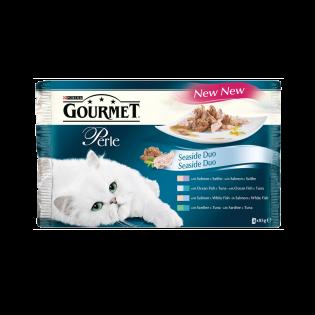 GOURMET Perle Hrana umeda pisici duo peste pliculete 4X85G