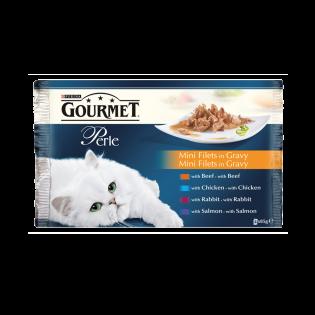 GOURMET Perle hrană umedă pisici duo 4X85G