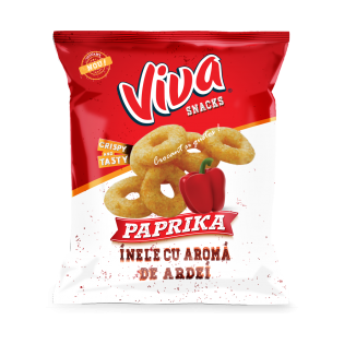 VIVA Snacks inele cu aromă de ardei 80g