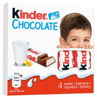 KINDER Ciocolată 4 Buc