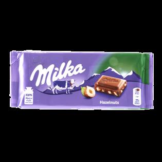 MILKA Ciocolată cu lapte și alune 100g