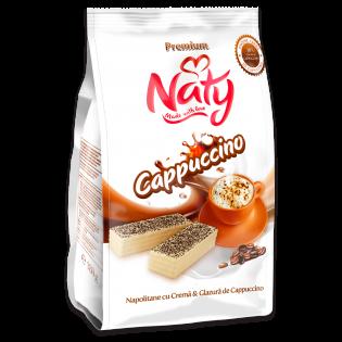 NATY PREMIUM - Napolitane cu cremă și glazură de cappuccino 180g