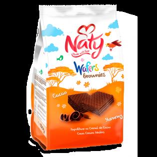 NATY Brownies Napolitane cu cremă de cacao 180g