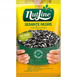 NUTLINE Semințe floarea soarelui negre sare 100g