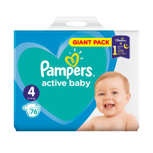 PAMPERS Scutece giant nr. 4 76 Buc
