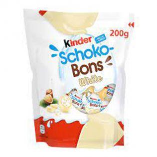 KINDER Schokobons bomboane de ciocolată albă 200 g