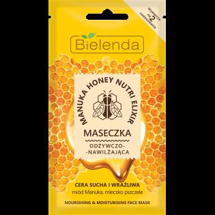 BIELENDA Mască de față cu miere de manuka hrănitoare și hidratantă pentru ten uscat și sensibil 8g