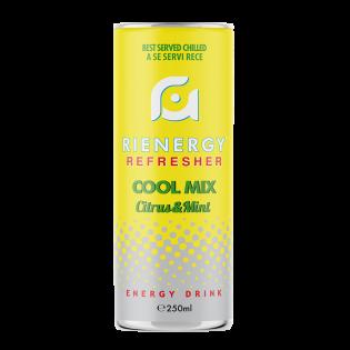 RIENERGY Energy Drink Cool Mix Citrus & Mint 0.25L doză