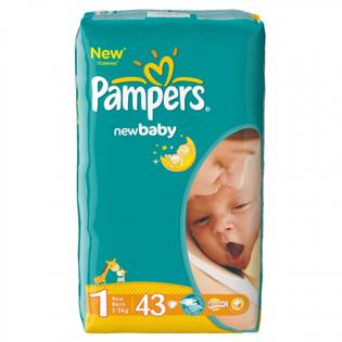 PAMPERS Scutece nou născuți 43 buc