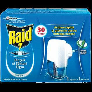 RAID Aparat electric împotriva ţânţarilor+ rezervă lichidă 21ml