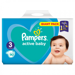 PAMPERS Scutece giant nr. 3 90 buc