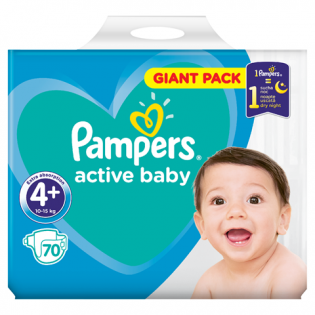 PAMPERS Scutece giant nr. 4 70 buc