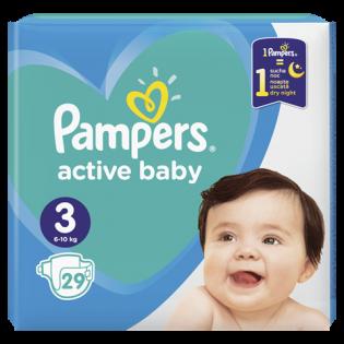 PAMPERS Scutece active baby mediu Nr. 3 29 buc