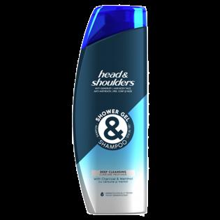 HEAD & SHOULDERS Gel de duș și șampon deep cleasing cu cărbune și mentă 360 ml