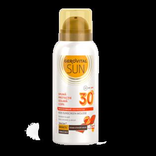 GEROVITAL SUN Spumă de plajă pentru copii cu factor de protecție solară 30 300 ml